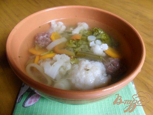 Летний суп с фрикадельками