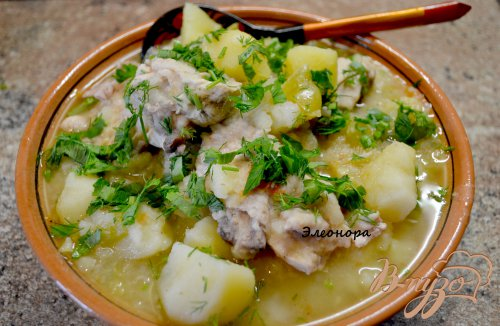 Тушёная картошка с курицей