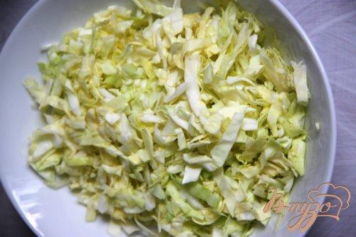 Салат из  капусты с  хлопьями