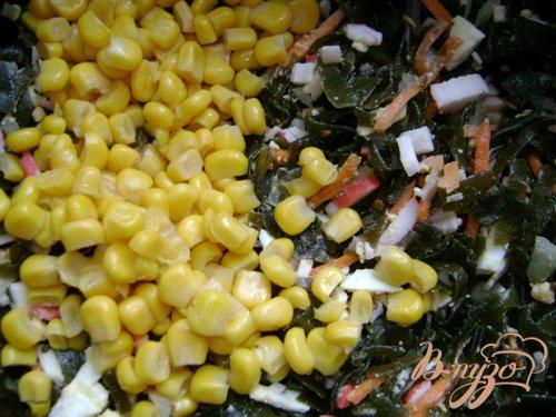 Салат «Ёлочки» с крабовыми палочками и морской капустой!