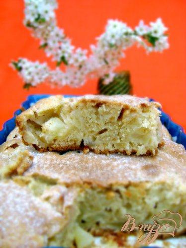 Пирог на оливковом масле с коньяком и корицей «Райское яблочко»