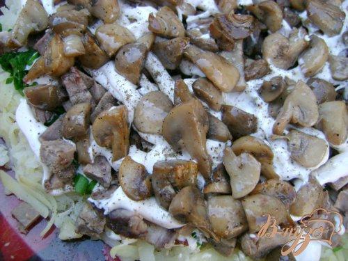 Слоёный салат «Букетик подснежников»