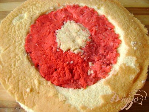 """Бисквитный тортик с """"сердцем"""" внутри"""