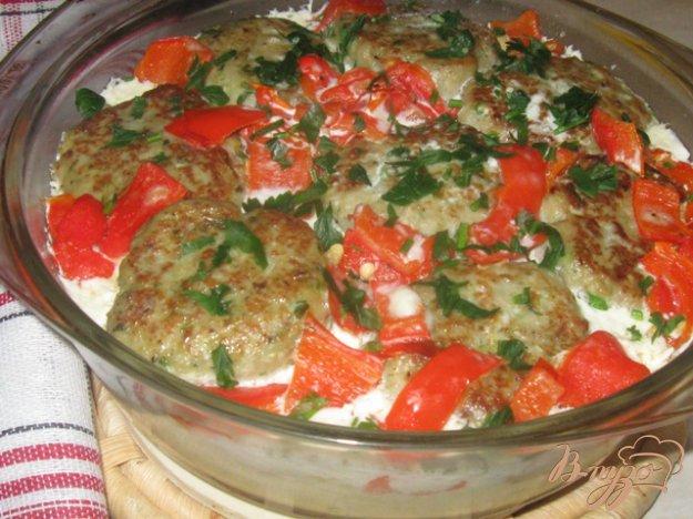Рецепт Овощная запеканка с рыбными котлетами