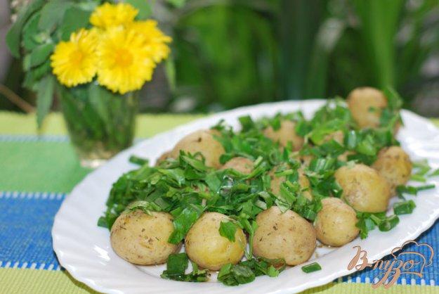 Рецепт Картофель с пряными травами в микроволновке.