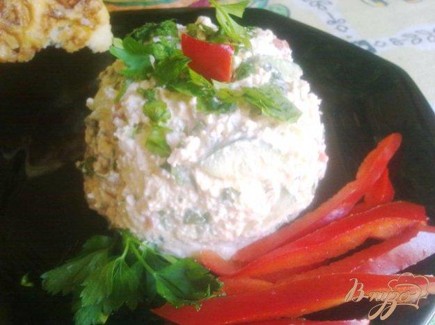 Рецепт Салат из творога с овощами