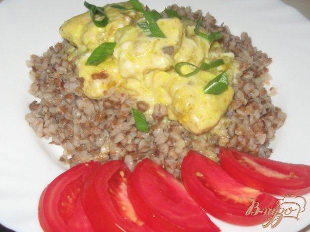 фото рецепта: Куриное филе в молочно-сырном соусе