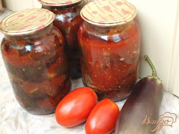 Фото приготовление рецепта: Баклажаны в томате шаг №3
