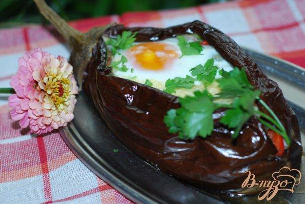 """Рецепт """"Аджапсандал"""" в баклажане с яйцом."""
