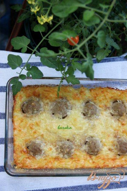 Рецепт Кабачковая запеканка с фрикадельками