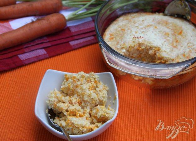фото рецепта: Морковно-творожная запеканка с крупкой