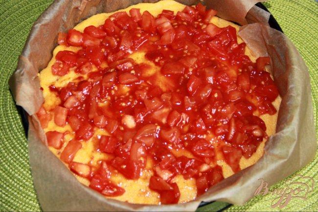 Фото приготовление рецепта: Полента-пирог шаг №5