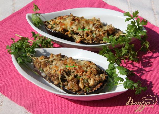 Рецепт Баклажаны с курино-ореховой начинкой
