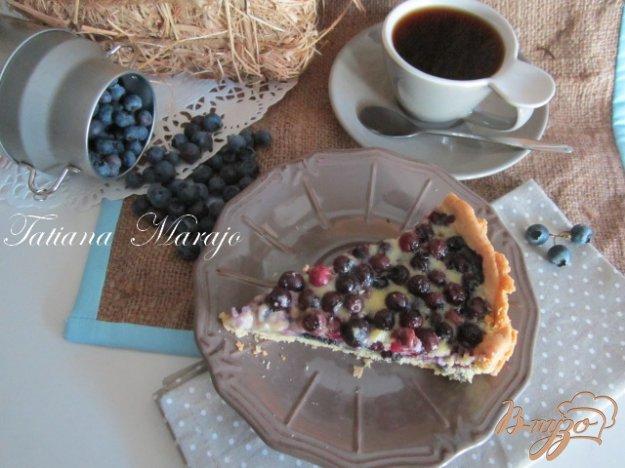 Рецепт Открытый черничный пирог