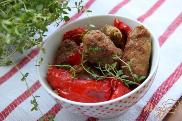 Рецепт Рулетики из фарша с тимьяном, запечённые со сладким перцем