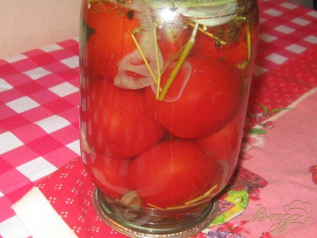 Фото приготовление рецепта: Консервированные помидоры шаг №3