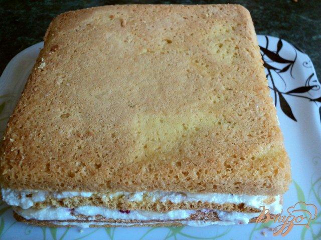 Фото приготовление рецепта: Торт фруктовый шаг №6