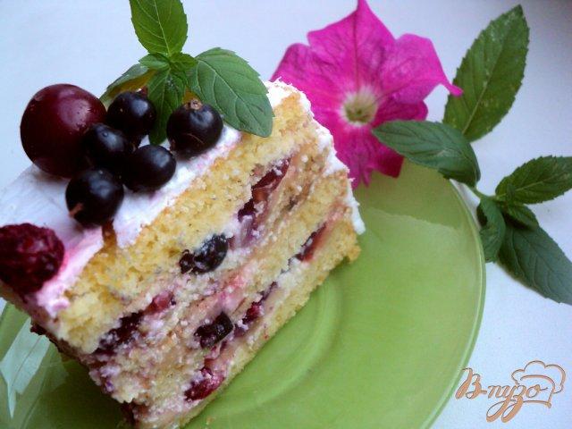 Фото приготовление рецепта: Торт фруктовый шаг №9