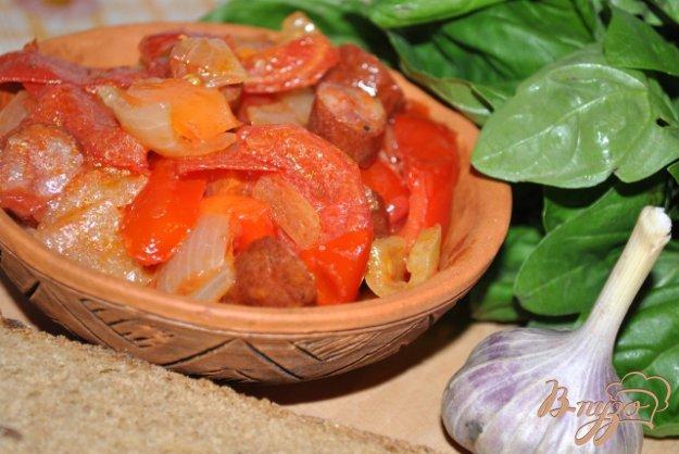 фото рецепта: Лечо с колбасками по-венгерски