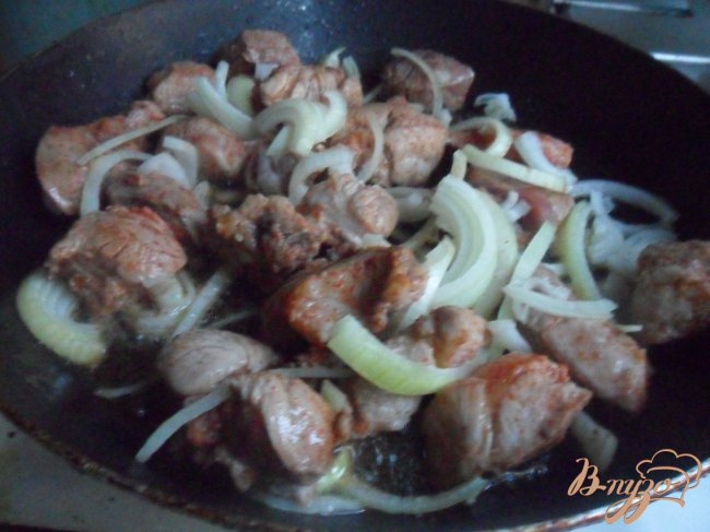 Фото приготовление рецепта: Овощное рагу со свининой шаг №3