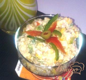 Рецепт Салат с тунцом и рисом