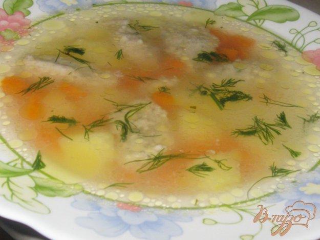 фото рецепта: Легкий суп с овсяными клецками