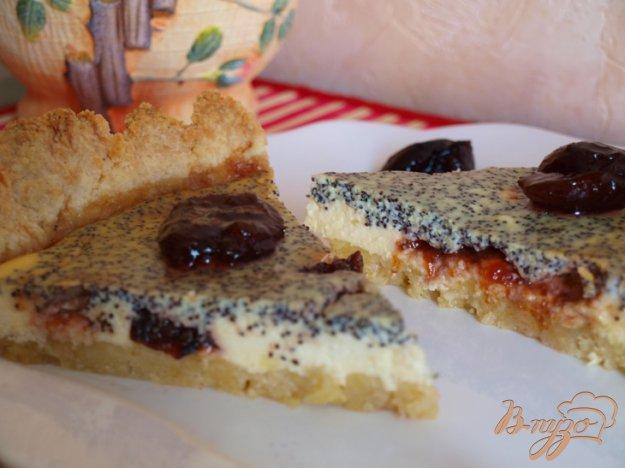 Рецепт Творожно-маковый пирог с вареньем