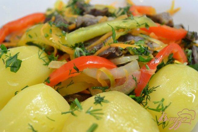 Фото приготовление рецепта: Сердце с картошкой. шаг №5