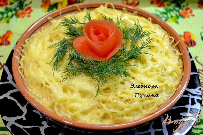Фото приготовление рецепта: Запеканка из спагетти. шаг №9