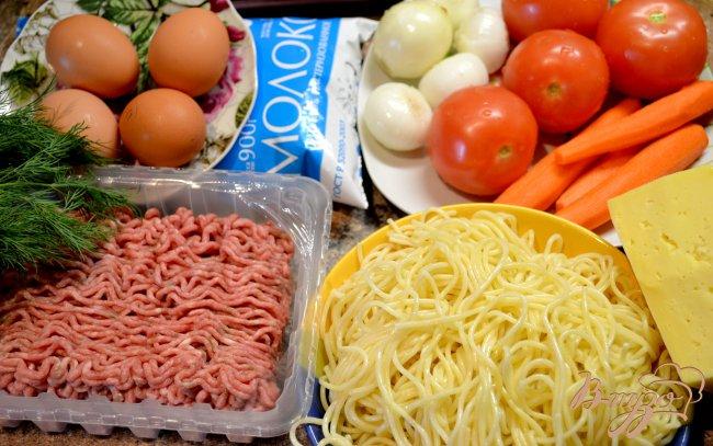 Фото приготовление рецепта: Запеканка из спагетти. шаг №1