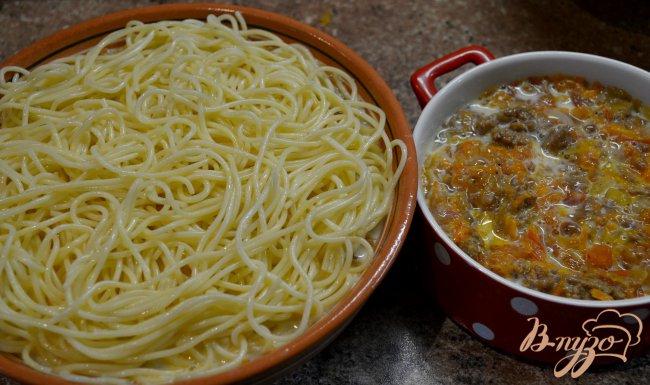 Фото приготовление рецепта: Запеканка из спагетти. шаг №6