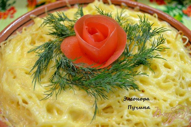 Фото приготовление рецепта: Запеканка из спагетти. шаг №11