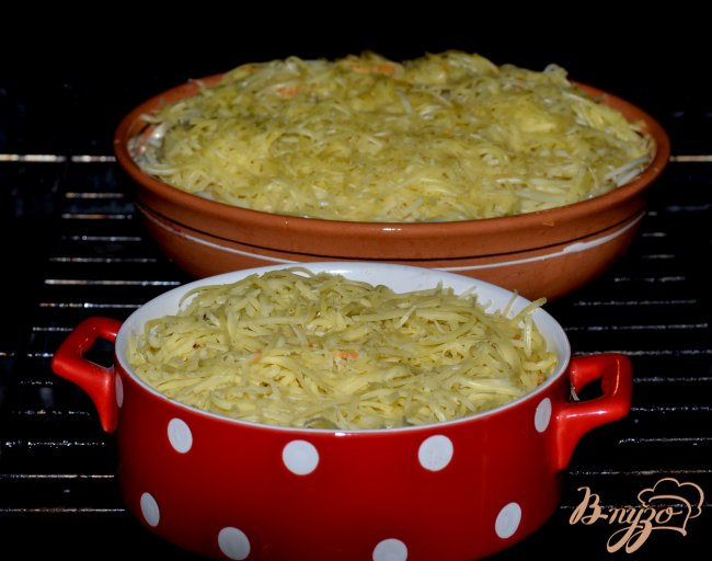 Фото приготовление рецепта: Запеканка из спагетти. шаг №8