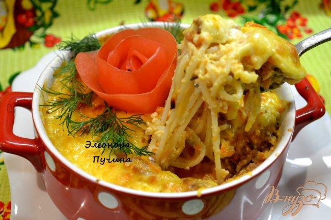 Фото приготовление рецепта: Запеканка из спагетти. шаг №10
