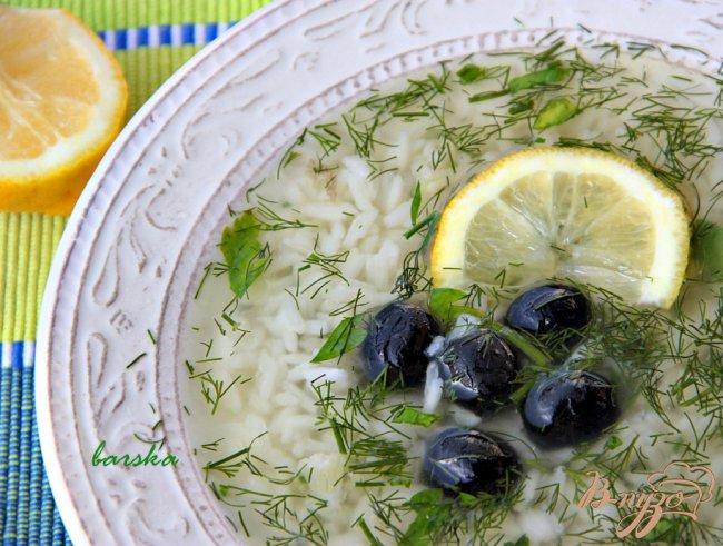 Фото приготовление рецепта: Греческий суп с рисом шаг №3