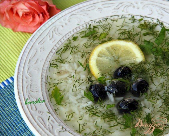 Фото приготовление рецепта: Греческий суп с рисом шаг №2
