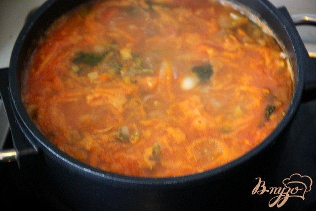 Фото приготовление рецепта: Фасолада шаг №3