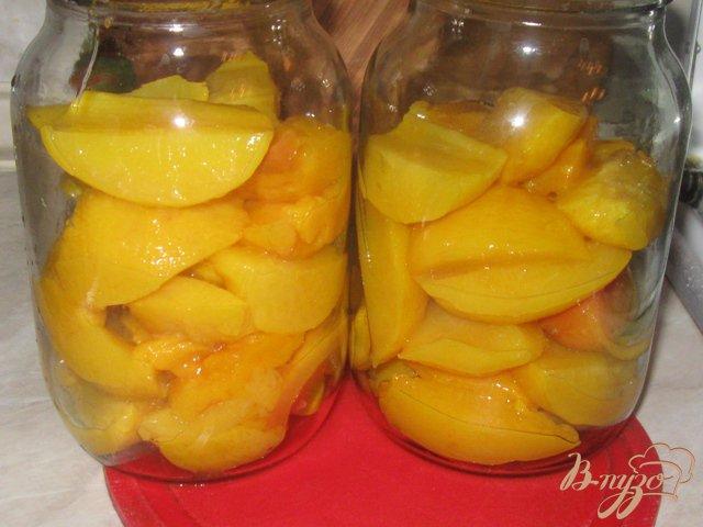 Фото приготовление рецепта: Персики консервированные шаг №5
