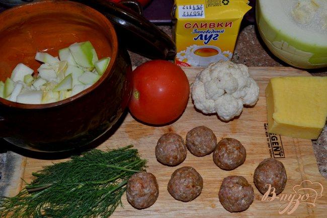 Фото приготовление рецепта: Овощное рагу с тефтелями. шаг №1