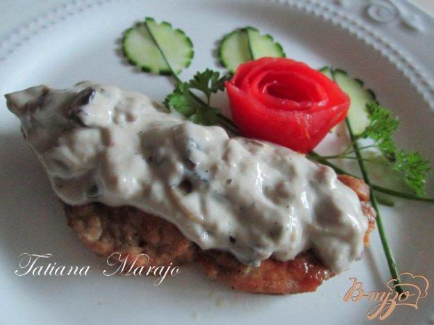 Рецепт Свинной шницель с грибным соусом