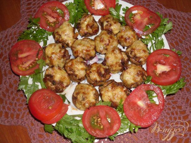Рецепт Шампиньоны фаршированные овощами