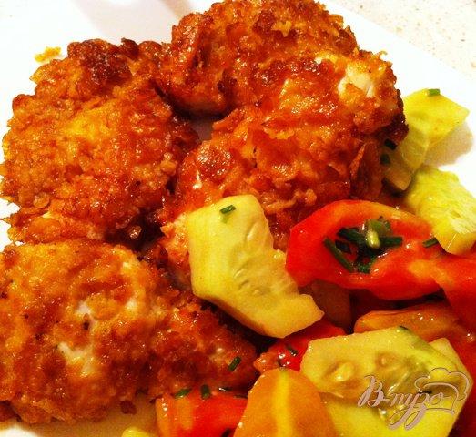 Фото приготовление рецепта: Куриное филе в хлопьях шаг №5