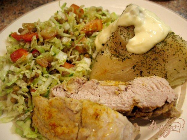 Рецепт Свинина и капуста на пару.