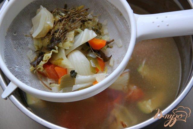 Фото приготовление рецепта: Овощной бульон/фонд шаг №4