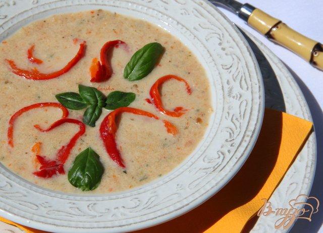 Фото приготовление рецепта: Крем-суп из запечёных овощей. шаг №7