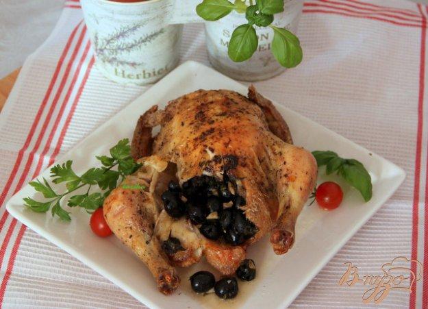 Рецепт Курица, фаршированная пикантными маслинами
