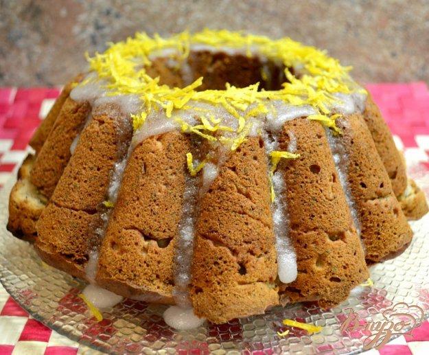 Рецепт Банановый кекс с маком и лимонной глазурью