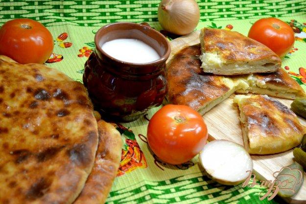 фото рецепта: Осетинские пироги «Картофджын» – пирог с картошкой