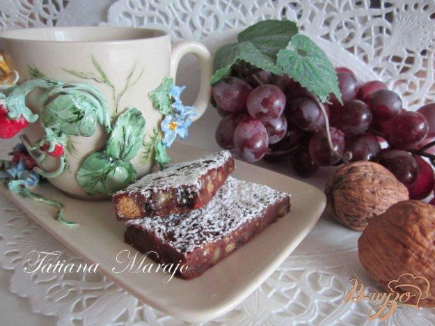 фото рецепта: Шоколадные пластинки с сухофруктами...