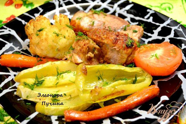 Рецепт Запечённая свинина с овощами.